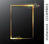 elegant realistic gold frame... | Shutterstock .eps vector #1213698811