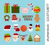 christmas concept christmas... | Shutterstock .eps vector #1213713877