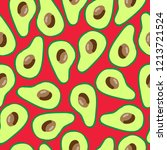 the pattern of avocado. red...   Shutterstock .eps vector #1213721524