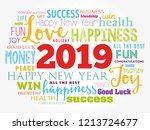 2019 year greeting word cloud... | Shutterstock .eps vector #1213724677