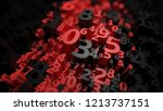 abstract 3d numbers background. ... | Shutterstock . vector #1213737151