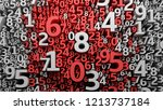 abstract 3d numbers background. ... | Shutterstock . vector #1213737184