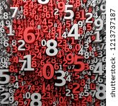 abstract 3d numbers background. ... | Shutterstock . vector #1213737187