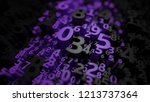 abstract 3d numbers background. ... | Shutterstock . vector #1213737364