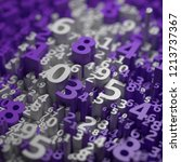 abstract 3d numbers background. ... | Shutterstock . vector #1213737367