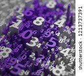 abstract 3d numbers background. ... | Shutterstock . vector #1213737391