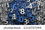 abstract 3d numbers background. ... | Shutterstock . vector #1213737394