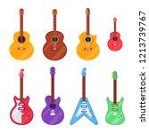 flat guitar instrument. ukulele ... | Shutterstock .eps vector #1213739767