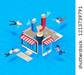 web store customer attraction.... | Shutterstock .eps vector #1213739791