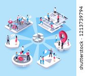 3d isometric marketing people.... | Shutterstock .eps vector #1213739794