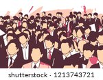 stylized illustration of crowd... | Shutterstock .eps vector #1213743721