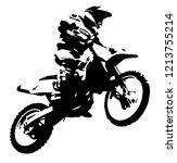 mx rider jumping | Shutterstock .eps vector #1213755214