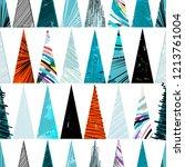 seamless geometric pattern... | Shutterstock .eps vector #1213761004