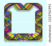 Colorful Square Frame In The...