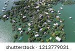 high above flood zone   aerial... | Shutterstock . vector #1213779031