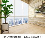 spacious and bright balcony ... | Shutterstock . vector #1213786354