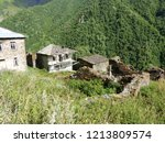 old ancient moutain  village in ... | Shutterstock . vector #1213809574