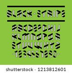 black and white stripe... | Shutterstock .eps vector #1213812601