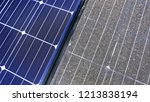 photovoltaic cleaning  before... | Shutterstock . vector #1213838194