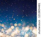 christmas light background. ... | Shutterstock . vector #1213854481