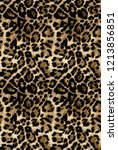 Wildlife Leopard Pattern Fur...