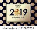 happy new year 2019 winter... | Shutterstock .eps vector #1213857691