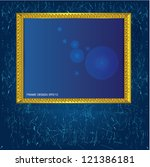 frame for picture vector | Shutterstock .eps vector #121386181