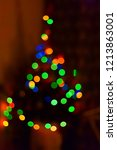 blurred christmas tree with...   Shutterstock . vector #1213863001