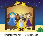 nativity | Shutterstock . vector #121386685