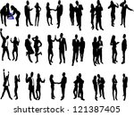 high quality business people... | Shutterstock .eps vector #121387405