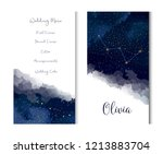 magic night dark blue sky with... | Shutterstock .eps vector #1213883704