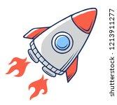 space rocket. spaceship launch. ... | Shutterstock .eps vector #1213911277