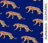 leopard print watercolor... | Shutterstock . vector #1213913491