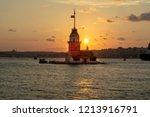 maiden's tower or kiz kulesi... | Shutterstock . vector #1213916791