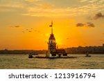 maiden's tower or kiz kulesi... | Shutterstock . vector #1213916794