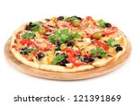 Tasty Pizza With Vegetables ...