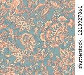 vintage floral seamless patten... | Shutterstock . vector #1213927861