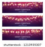 merry christmas abstract ligth... | Shutterstock .eps vector #1213935307