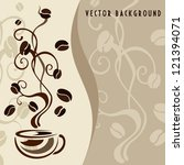 vector background with coffee... | Shutterstock .eps vector #121394071