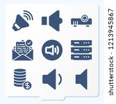 simple set of 9 icons related... | Shutterstock .eps vector #1213945867