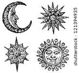 sun  crescent  and stars | Shutterstock . vector #121394935