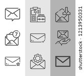 simple collection of envelope... | Shutterstock . vector #1213950331