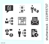 simple set of 9 icons related... | Shutterstock .eps vector #1213955737