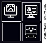 set of 4 screen outline icons... | Shutterstock .eps vector #1213959307