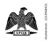 logo of the roman eagle. | Shutterstock . vector #1213968421