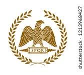 logo of the roman eagle. | Shutterstock . vector #1213968427