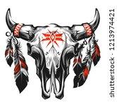 Native American  Bull Skull...