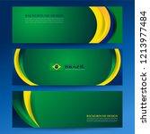 brazil color flag concept... | Shutterstock .eps vector #1213977484