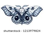 beautiful butterfly tattoo.... | Shutterstock .eps vector #1213979824