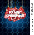 2019 merry christmas seasonal... | Shutterstock . vector #1213983661
